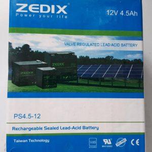 باتری 12 ولت 4.5 آمپر zedix